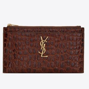 New Authentic YSL Pouch| Croc Embossed Leather ♥️